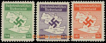 217411 - 1938 SUDETENDEUTSCHES NIEDERLAND MI.IA, IIA, IIIA, Mapa Šlu