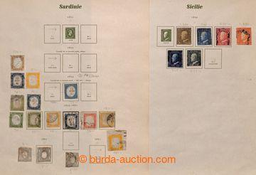 217438 - 1851-1920 [SBÍRKY]  partie na 8 listech ze staré sbírky,