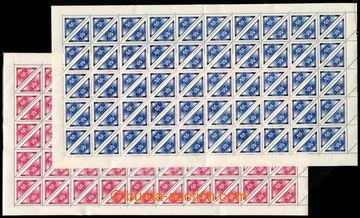 217453 - 1939 ARCHOVINA / Pof.DR1-DR2, Doruční 50h modrá a 50h če