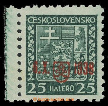 217472 - 1938 BAZOVSKÉHO PŘETISK / ZT  Znak 25h zelená s přetiske