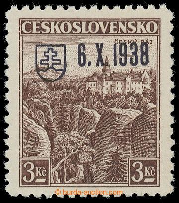 217473 - 1939 BAZOVSKÉHO PŘETISK / ZT  Český ráj 3Kč s přetisk
