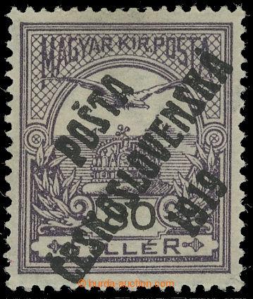 217488 -  NEVYDANÁ / 80f fialová / černá, přetisk F, IV. typ; le