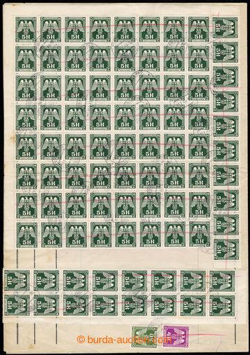 217499 - 1944 dvojlist tiskopisu Doručovací záznam s vylepenými s
