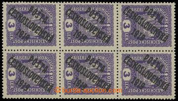 217508 -  Pof.33 ST, Koruna 3h fialová, 6-blok, 1x STA a 2x STB; sv�