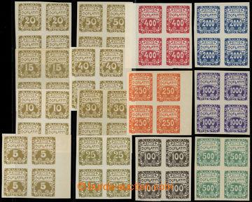 217512 - 1919 Pof.DL1-14, Ornament 5h - 2000h, kompletní série ve 4