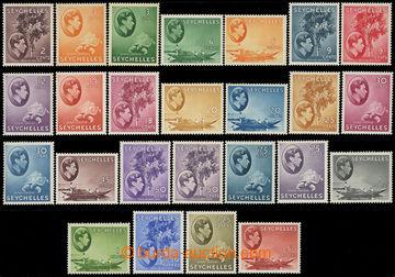 217583 - 1938-1949 SG.135-149, Jiří VI. Motivy 2C - 5Rp; svěží l