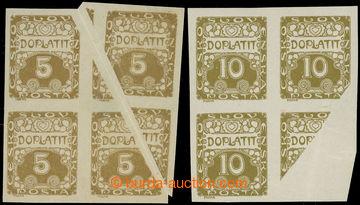 217607 - 1919 Pof.DL1 + DL2VV, Ornament, hodnoty 5h + 10h hnědoolivo