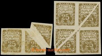 217609 - 1919 Pof.DL5 VV, Ornament 25h hnědoolivová, 2-páska s tis