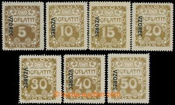 217610 - 1919 Pof.DL1vz-8vz, Ornament 5h-50h (bez 25h) s přetiskem V