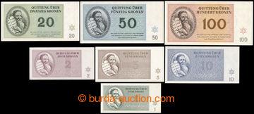 217621 - 1943 TEREZÍN 1-7, kompletní sada bankovek terezínského g