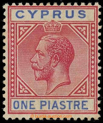 217676 - 1912-1915 SG.77a, Jiří V. 1Pi růžová / modrá s DV - br