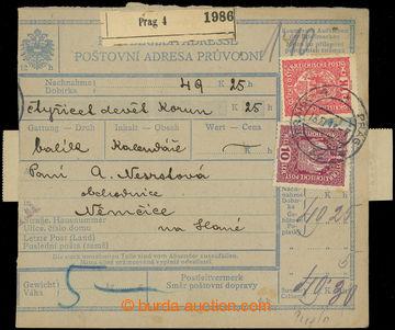 217712 - 1918-1925 Maxa J80 + J81, větší díl balíkové dobírkov