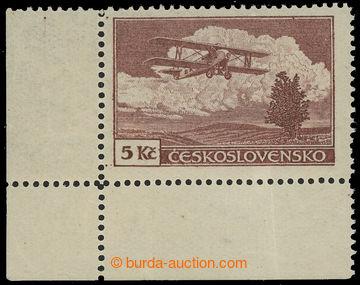 217751 -  Pof.L12, Definitivní vydání 5Kč hnědá, levý dolní r