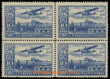 217757 -  Pof.L13a, Definitivní vydání 10Kč ultramarínová, 4-bl
