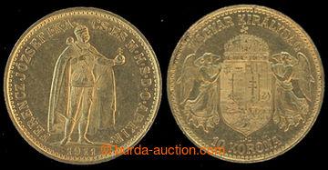 217849 - 1911 FRANTIŠEK JOSEF I. / 10 Korona, Au, uherská ražba; k