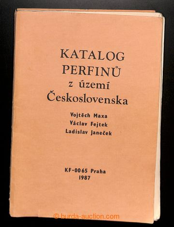 217856 - 1987 PERFINY / Katalog perfínů z území Československa,