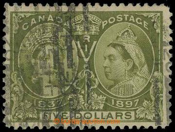217897 - 1897 SG.140, Viktorie $5 olivově zelená; bezvadná kvalita