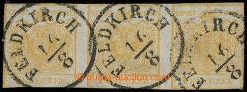 217920 - 1850 Ferch.1HIa, 3-páska Znak 1Kr oranžověokrová s raz.