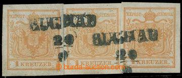 217948 - 1850 Ferch. 1HIa, 3x Znak 1Kr červeno - hnědooranžová, p