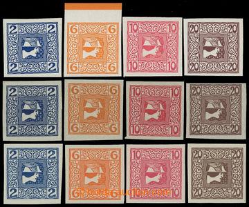 218005 - 1908 NOVINOVÉ / ANK.157-160, 2h-20h, papír obyčejný, ten