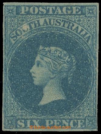 218014 - 1857 SG.10, Viktorie 6P slate blue tzv. Adelaide Printing z