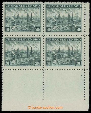 218025 - 1939 DOTISKY / Pof.344, Plzeň 50h zelená, pravý dolní ro