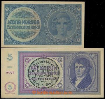 218029 - 1938-1940 Ba.28a, 29b, 1K ruční přetisk, série A065 - ne