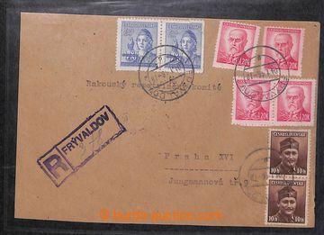 218032 - 1945-1946 [SBÍRKY]   PROVIZORNÍ R-NÁLEPKY  sbírka 81 ks