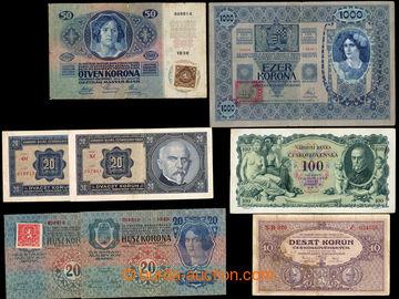 218038 - 1918-1931 SESTAVA / 8 bankovek, každá jiná, mj. Ba.4, 6,