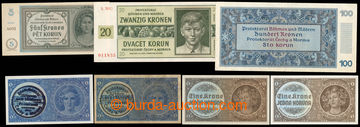 218040 - 1938-1945 SESTAVA / 7 bankovek, obsahuje mj. Ba.28a, 28b, 33