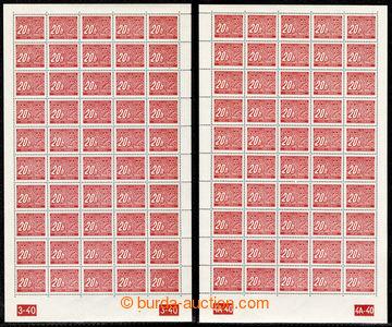 218044 - 1939 ARCHOVINA / Pof.DL1, DL2, DL3, sestava 5ks kompletních