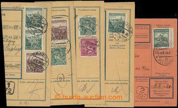 218047 - 1936-1939 sestava 7ks ústřižků vyfr. čs. zn. s perfiny,