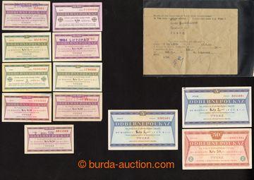 218051 - 1969-1989 TUZEX / sestava 12ks odběrních poukazů, mj. 50K