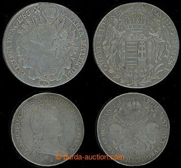 218080 - 1778-1783 JOSEF II., ½ tolar 1778 a tolar 1783, Ag; kvalita