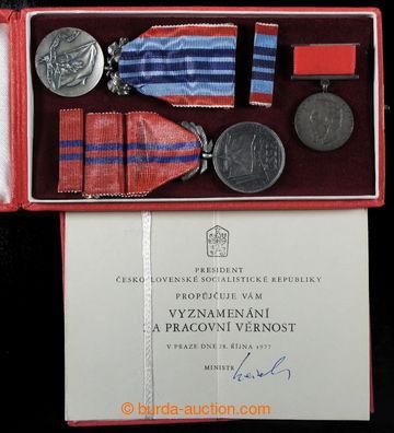 218094 - 1977 [SBÍRKY]  ČSR / Vyznamenání za zásluhy o výstavbu