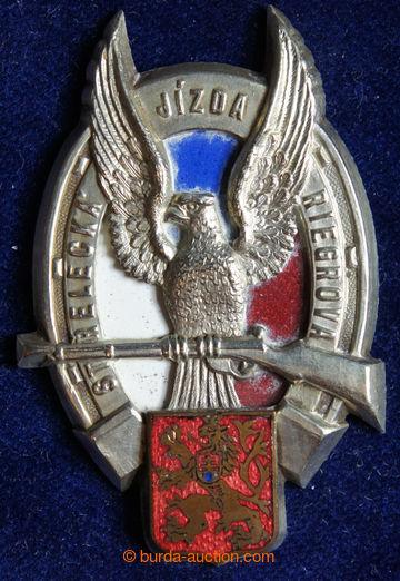 218095 - 1930- ČSR / Střelecká jízda Riegrova, odznak, zlacený b