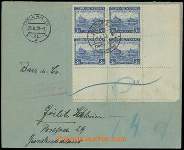 218135 - 1939 dopis zaslaný z Prahy do Görlitz v Německu, vyfr. ce