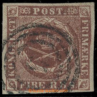 218148 - 1851-1852 Mi.1IIvar, FIRE R.B.S. červenohnědá, Thiele, re
