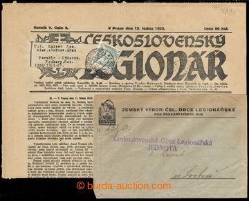 218157 - 1923 UŽHOROD / celé noviny Čs. legionář zaslané na Pod