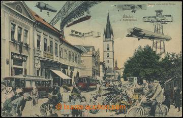 218162 - 1908 ČÁSLAV v budoucnosti, jednozáběrová kolorovaná ko