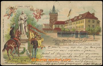 218164 - 1898 PRAHA - Cadetenschule in Prag, dvojzáběrová jubilejn
