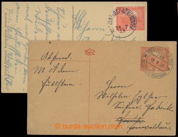 218203 - 1919-1920 VLP OSOBLAHA - TŘEMEŠNÁ/ 746  sestava 2ks líst