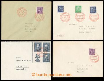 218292 - 1939 PR1, Návštěva vůdce vPraze, sestava 8ks celistvos