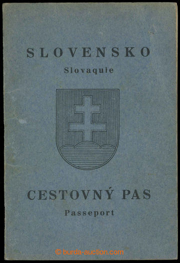 218319 - 1939 CESTOVNÍ PAS / SLOVENSKO  ve slovensko-francouzské ve