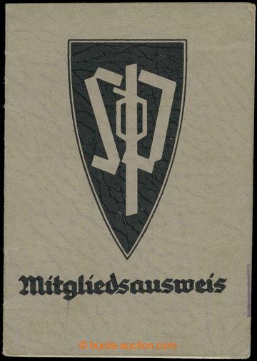 218329 - 1938 SUDETENDEUTSCHE PARTEI / ČSR  členská legitimace čl