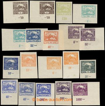 218332 -  POČITADLA/ 19ks rohových či krajových kusů různých h