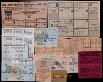 218342 - 1917-1991 POTRAVINOVÉ LÍSTKY, POUKÁZKY NA BENZIN A NAFTU
