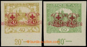 218350 -  Pof.170Nc, 171Nc, Hradčany 40h žlutá a 60h nezoubkované