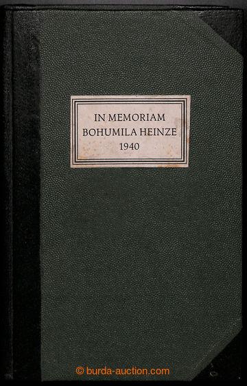 218415 - 1940 IN MEMORIAM BOHUMILA HEINZE 1940  významná publikace