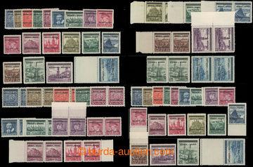 218482 - 1939 Pof.1-19, sestava 4 sérií 5h-10K, jedna v 2-páskách